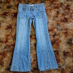 Vintage Jordache low rise slit flare leg jeans